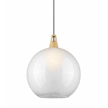 mleczna lampa wisząca ze szkła, oświetlenie salonu, kuchni, styl skandynawski, nowoczesny