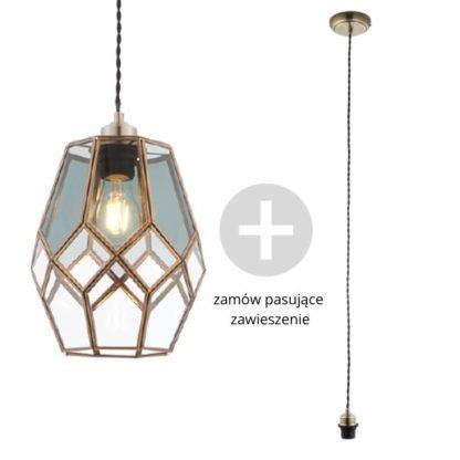 Oryginalna lampa wisząca Ripley - Endon Lighting - szklana