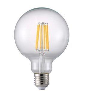Bezbarwna żarówka - kula dekoracyjna LED E27 7.7 Dim z przyciemnianiem