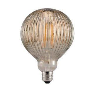 Retro żarówka edisona - brązowe szkło zdobione LED E27