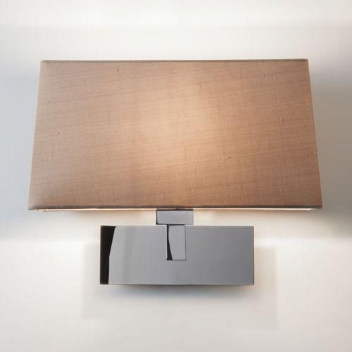 srebrny kinkiet modern classic, abażur do wyboru, wysoki połysk
