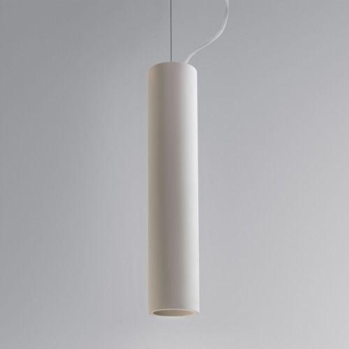 lampa wisząca z białym, regulowanym zawieszeniem