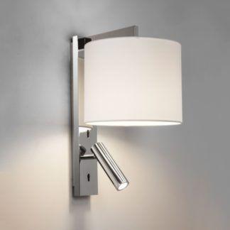 Srebrny nowoczesny kinkiet Ravello - dodatkowy reflektor LED