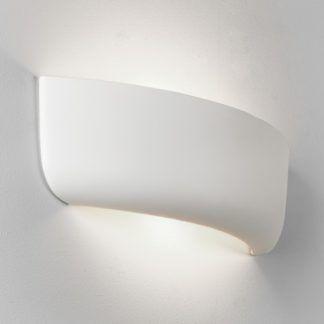 Ceramiczny kinkiet Gosford 460 - białe wykończenie, oryginalny kształt