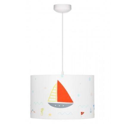 biała lampa wisząca morska przygoda, dziecięca