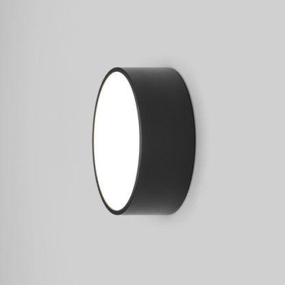 czarny kinkiet okrągły/ lampa sufitowa, do łazienki, na zewnątrz
