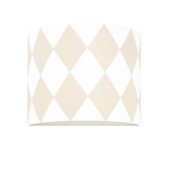 Nowoczesny kinkiet Young - biały w różowe romby