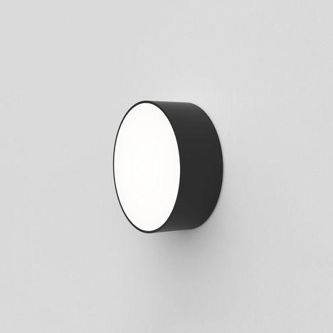 kinkiet/plafon nowoczesny, biały dyfuzor, czarna oprawa, odporny na wilgoć, lampa do łazienki