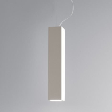 nowoczesna lampa wisząca, biała, regulowane zawieszenie