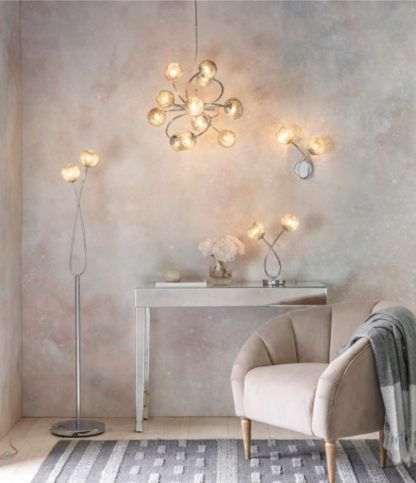 lampy ze szklanymi kloszami do salonu
