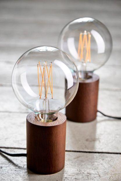 Drewniana lampa stołowa Bristol - minimalistyczna, nowoczesna