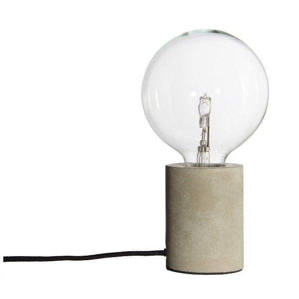 Industrialna lampa stołowa Bristol - podstawa z betonu