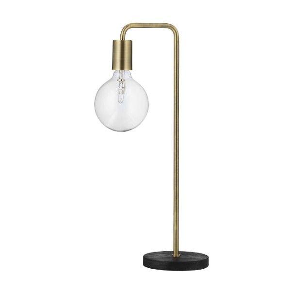 Industrialna lampa stołowa Cool - metalowa, złota