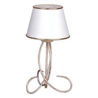 Elegancka lampa stołowa Katania - złota, biały klosz