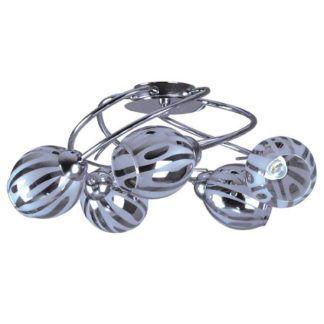 Lampa sufitowa Falko - srebrna, barwione, szklane klosze