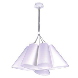 Efektowna lampa wisząca Argos - białe klosze, styl nowoczesny