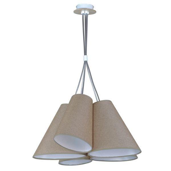 nowoczesna lampa wisząca z połączonymi ze sobą abażurami, nowoczesna