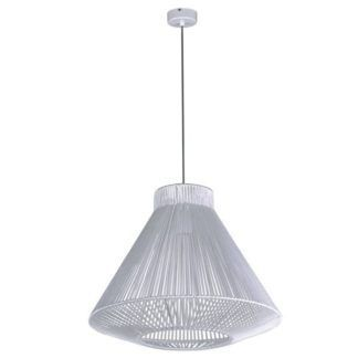 Biała lampa wisząca Gaudi - oryginalny klosz ze sznura