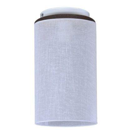 lampa sufitowa z materiałowym abażurem