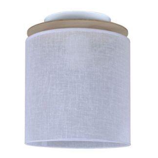 Nieduża lampa sufitowa Aida - biały abażur, nowoczesna