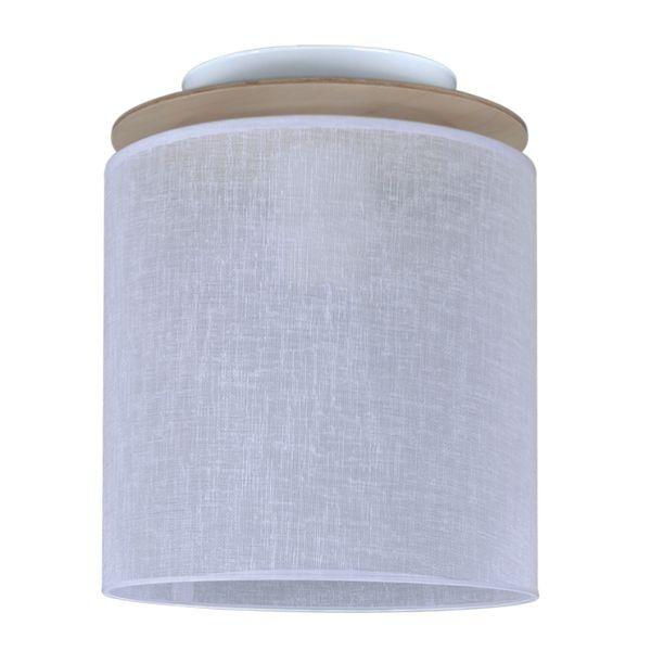 biała lampa sufitowa z białym abażurem