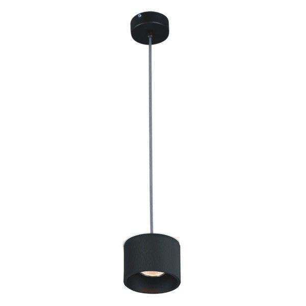 nowoczesna lampa wisząca, czarny klosz, minimalistyczna