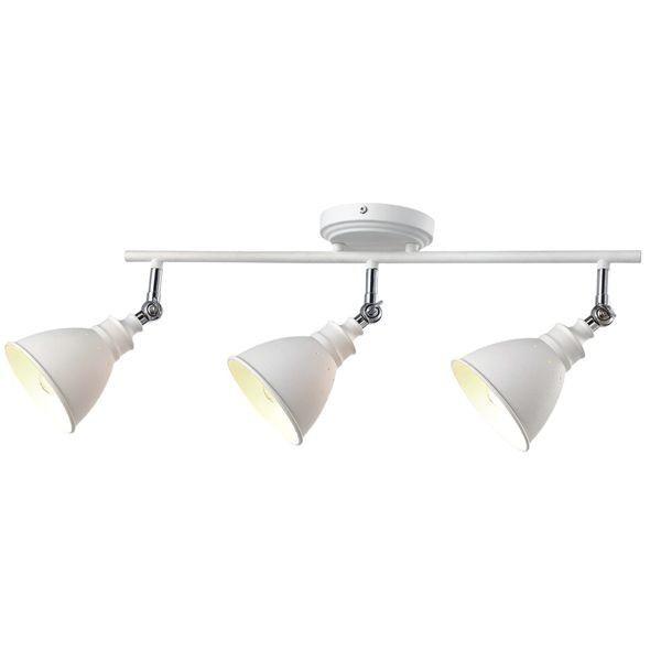 klasyczna lampa sufitowa z trzema białymi reflektorami, do kuchni, do salonu