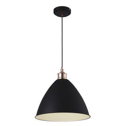 czarna lampa wisząca retro