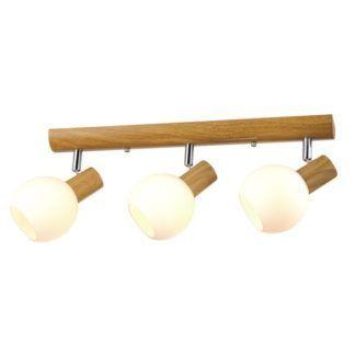 Podłużna lampa sufitowa Baleo - szklane klosze - kule