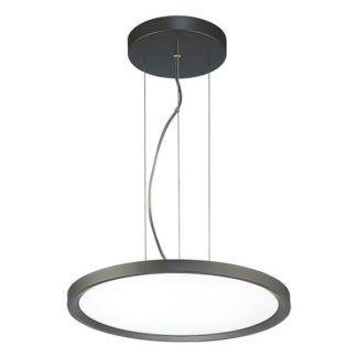 Okrągła lampa wisząca  Dipper - szara oprawa, LED