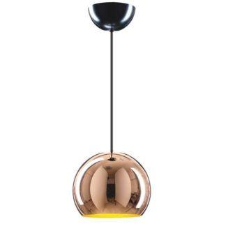 Nowoczesna lampa wisząca Mamia - szklany klosz kula, miedź