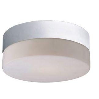 Lampa sufitowa Sade - M - szklany klosz, chrom, IP44