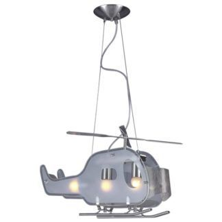 Lampa wisząca Helikopter - srebrna, regulacja wysokości