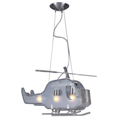 lampa wisząca do pokoju chłopca, w kształcie helikoptera