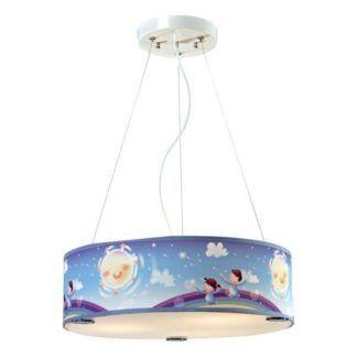 Kolorowa lampa wisząca Bajka - okrągły klosz z dyfuzorem