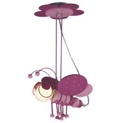 lampa wisząca motylek, różowa, do pokoju dziewczynki