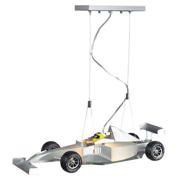 lampa wisząca do pokoju chłopca, formuła 1, samochód
