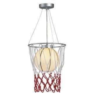 Lampa wisząca Sport - piłka do kosza, do pokoju dziecięcego