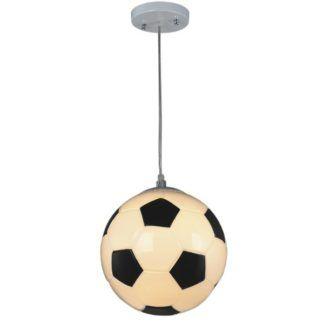 Lampa wisząca Sport - klosz  w kształcie piłki, do pokoju dziecięcego