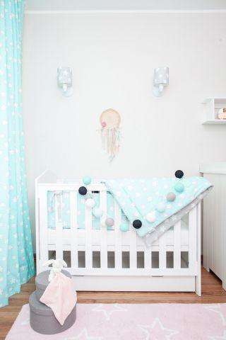 błękitny pokój dziecka oświetlenie aranżacja