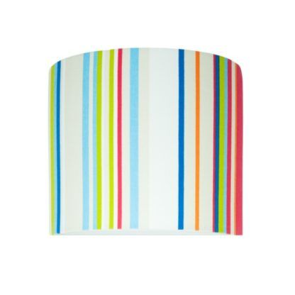 Kolorowy kinkiet Young - abażur w pionowe paski
