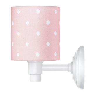 Kinkiet Lovely Dots - różowy abażur w kropki