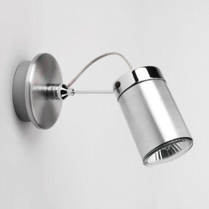 Kinkiet Montana Single - srebrny reflektor z regulacją, oświetlenie punktowe