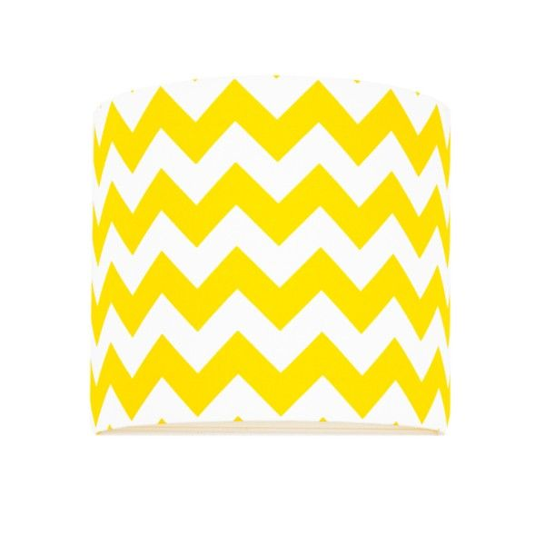Nowoczesny kinkiet Chevron - biało-żółty abażur