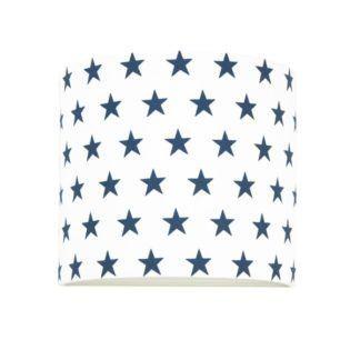 Bawełniany kinkiet Young - biały w granatowe gwiazdki