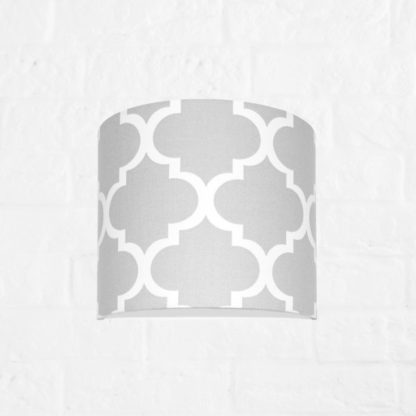 Szary kinkiet Young - bawełniany, biały wzór