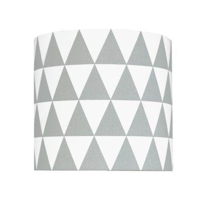 Nowoczesny kinkiet Young - szare i białe trójkąty