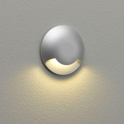 Kinkiet zewnętrzny Beam One - srebrny mat, LED, IP67