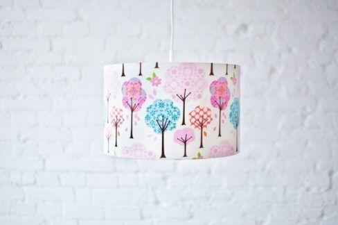 Lampa wisząca Bajkowy Las - motyw w pastelowe drzewa