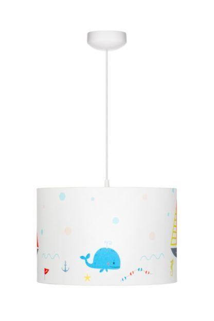 biała lampa wisząca dziecięca morska